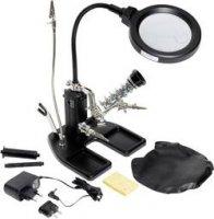 Stolní LED světelná lupa s třetí rukou Toolcraft, 7,5 W