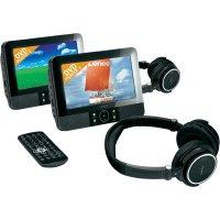 DVD systém Lenco DVP-738X2, sada se sluchátky