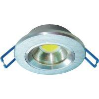 Vestavné LED světlo Xbright DL 5, 5 W, stříbrná/hliník