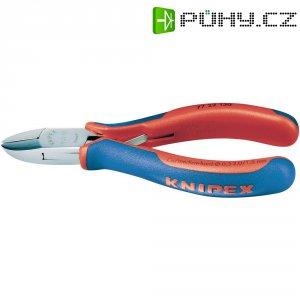 Stranové štípací kleště pro elektroniku Knipex 77 22 130, kulatá hlava s malou fazetou