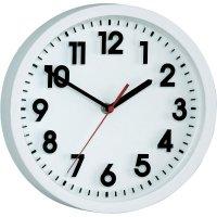 Analogové nástěnné hodiny, Ø 25 x 5 cm, bílá