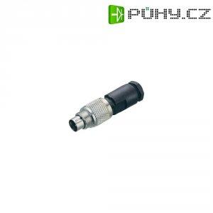 Kulatý konektor submin. Binder 712 (99-0409-00-04), 4pól., kab. zástrčka, 0,25 mm², IP67