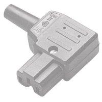 Úhlová síťová IEC zásuvka C15A Kaiser, 250 V, 10 A, šedá, 792/gr/C