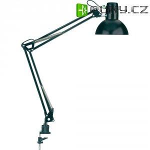 Stolní úsporná lampa Maul study s klipsem, E27, 60 W, černá