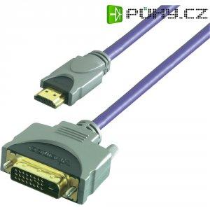 Připojovací kabel Vivanco, HDMI zástrčka/DVI-D zástrčka, 10 m