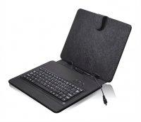 """Pouzdro na tablet 8"""" s klávesnicí s micro/mini USB, černé"""