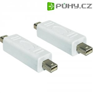 Mini adaptér zástrčka/zástrčka, bílá