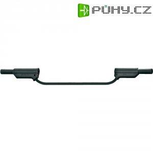 Měřicí silikonový kabel banánek 4 mm ⇔ banánek 4 mm MultiContact XVS-4075, 0,25 m, černá