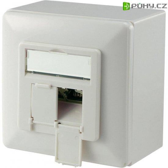 Síťová zásuvka pro povrchovou montáž 2x port, Digitus DN-9006-KL-N - Kliknutím na obrázek zavřete