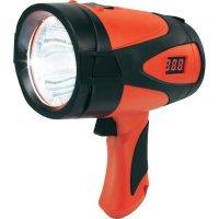 Akumulátorový ruční LED reflektor Renkforce 9008c16a, 5 W, černá/červená