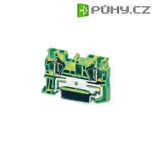 Průchodová svorka s tažnou pružinou Phoenix Contact ST 4 PE (3031380), zelenožlutá