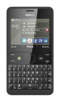Nokia Asha 210 Dual SIM Black - CZ distribuce