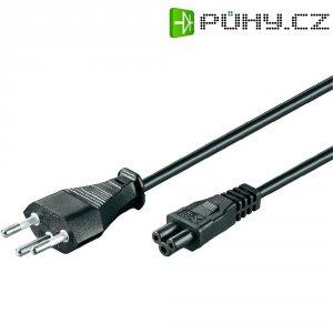 Síťový kabel k notebooku Goobay, 93986, zástrčka (CH) ⇔ zásuvka C5, 1,8 m, černá