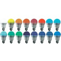 LED žárovka Jedi Lighting, E27, 3,2 W, 230 V, stmívatelná, RGB