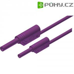 Měřicí kabel banánek 4 mm ⇔ banánek 2 mm SKS Hirschmann MAL S WS 2-4 100/1, 1 m, fialová