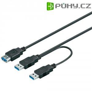 USB 3.0 prodlužovací kabel Goobay 95749, 0.3 m, černá