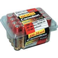 Sada alkalických/manganových baterií Camelion, typ AAA, 24 ks