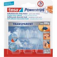 Powerstrips® Deco transparentní, 5 háčků a 8 proužků