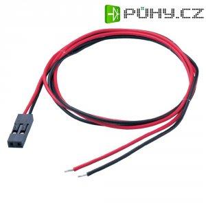 Konektor s vodiči, zásuvka, 2pól., 0,14 mm², 2,54 mm