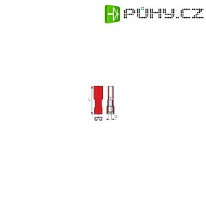 Faston zásuvka Vogt Verbindungstechnik 396005, 2.8 mm x 0.5 mm, červená, 1 ks