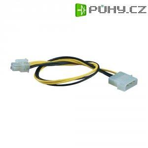 Napájecí kabel základní desky, 1x konektor základní desky 4pól.⇔1x IDE zásuvka 4pól.,0,3 m