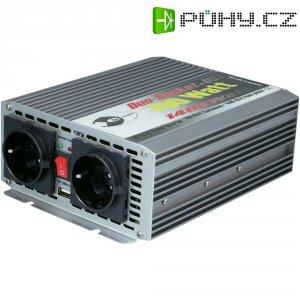 Trapézový měnič napětí e-ast CL700-D-24 z 24 V/DC na 230 V/AC, 5 V/DC, 700 W, USB