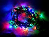 Řetěz vánoční 60 LED 6m, IP44, barevný, RETLUX RXL13