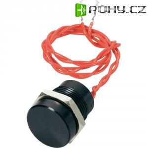 Piezo tlačítko APEM, 24 V DC/AC, 0,2 A, IP 69K, PBAR1AF2000, černé