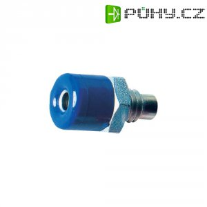Laboratorní konektor Ø 2,6 mm, zásuvka vest. vertikální, modrá
