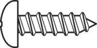 Šrouby do plechu s čočkovou hlavou DIN 7981 C 2,2x6,5, 100 ks