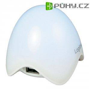 USB 2.0 hub LogiLink, 3-portový, osvětlený