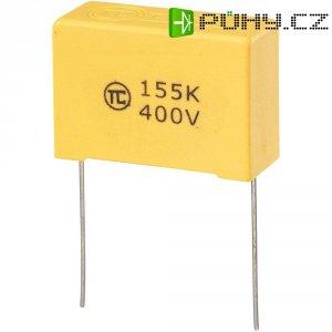 Foliový kondenzátor MKS, 1,5 µF, 400 V, 5 %, 32 x 13 x 22 mm