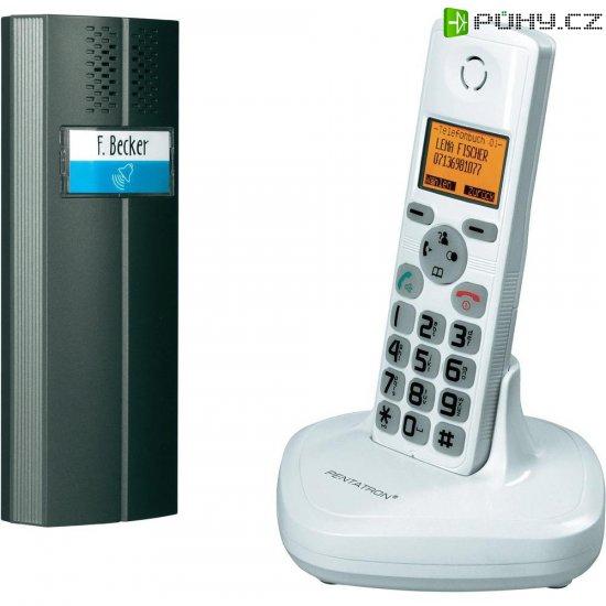 Bezdrátový domácí telefon, 1 rodina, 200 m, bílá/antracit - Kliknutím na obrázek zavřete