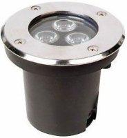 Podhledové světlo LED 3x1W,bílé teplé, 230V/3W, krytí IP65