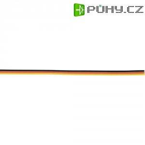 Plochý kabel k servu 5 m, Ø 3 x 0,14, černá/červená/žlutá