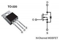 IRF520 N MOSFET 100V/10A 70W TO220