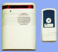 Bezdrátový domovní zvonek s optickou signalizací