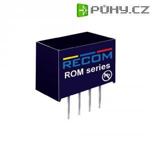 DC/DC měnič Recom ROM-1215S, vstup 12 V/DC, výstup 15 V/DC, 66 mA, 1 W