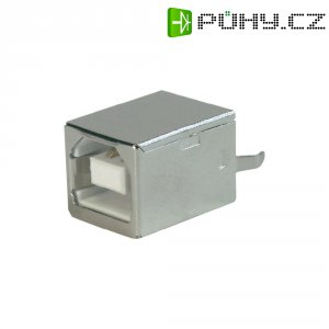 USB zásuvka vestavná do DPS 2.0 ASSMANN WSW A-USB B-TOP, rovná zásuvka Typ B