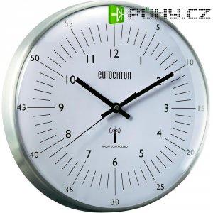 Analogové DCF nástěnné hodiny Eurochron EFWU 555 N, Ø 315 x 66 mm, stříbrná