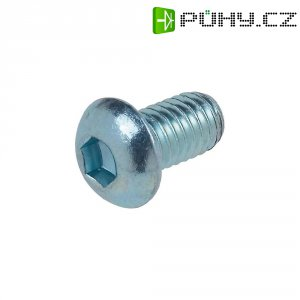 Šroub s čočkovou hlavou TOOLCRAFT 839609 M2 5 mm vnitřní šestihran ocel 20 ks