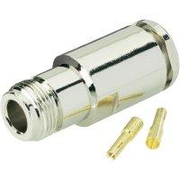 Konektor N BKL Electronic 404062, 50 Ω, zásuvka rovná