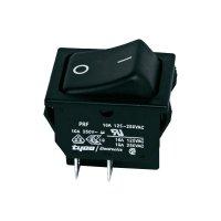Kolébkový přepínač TE Connectivity, 1634201-2, 250 V/AC, 10 A, 2x zap./vyp.
