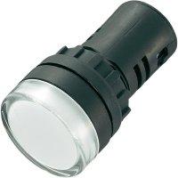 LED signálka AD16-22DS/ 230V/W (AD16-22DS/230V/W), LED signálka, 230 V/AC, bílá