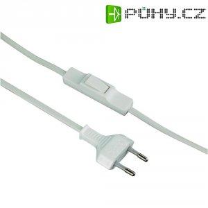 Síťový kabel s přepínačem, zástrčka/otevřený konec, 0,75 mm², 1,5 m, bílá