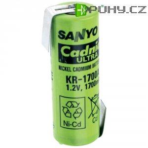 Akumulátor NiCd Sanyo A s pájecími kontakty, 1700 mAh