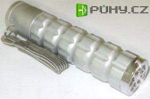 Svítilna LED 5x-klíčenka kovová