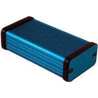 Univerzální pouzdro hliníkové Hammond Electronics, (d x š x v) 80 x 45 x 25 mm, modrá