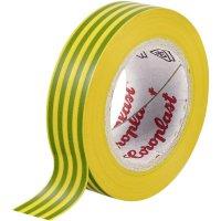 Izolační páska Coroplast, 302, 15 mm x 10 m, žlutozelená