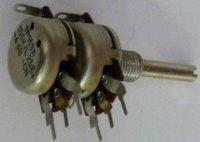 100k/L TP169A 25E, potenciometr otočný do DPS